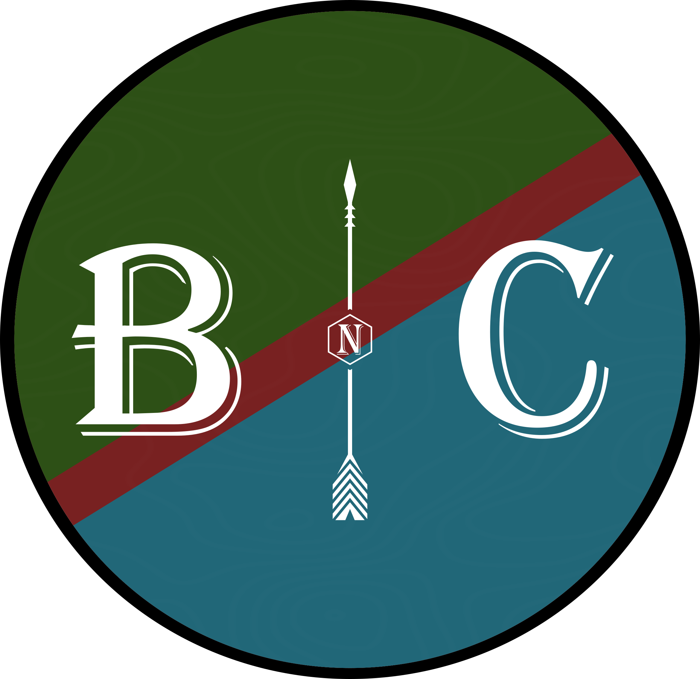 Boondocks and Cities Flag Circle 4 Logo